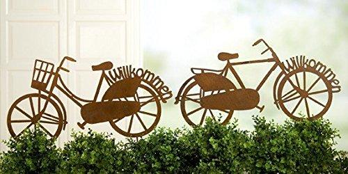 U0027Bicycle Garden Ornament With Stake, 63x 33cm Rusty