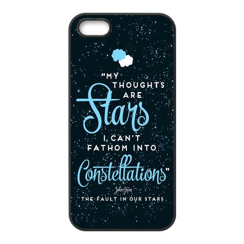 iphone 5/5s custodia, Cover per iphone 5s, The Fault in Our Stars Design Durable Silicone Rubber Material for iPhone 5/5S Case Cover