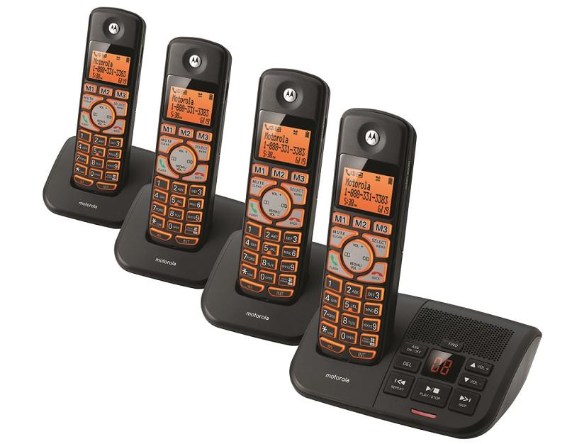 Amazon.com: Motorola DECT 6.0 Cordless Digital Home Phone with 4 ...