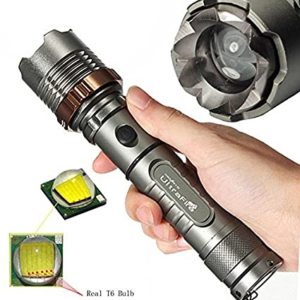 Camping & Hiking Lights, Lanterns & Torches Police 20000LM T6 LED 5 Modes 18650 Rechargeable Tactical Flashlight Zoom Torch