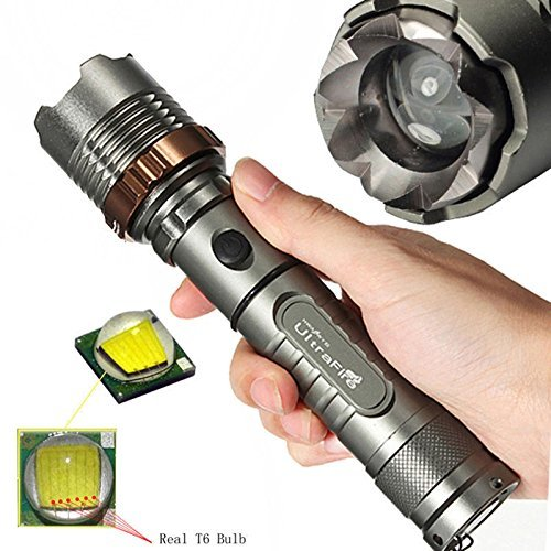 0LM XM-L T6 LED 5Modes 18650 Flashlight Battery&Charger (Police Tactical Flashlights)