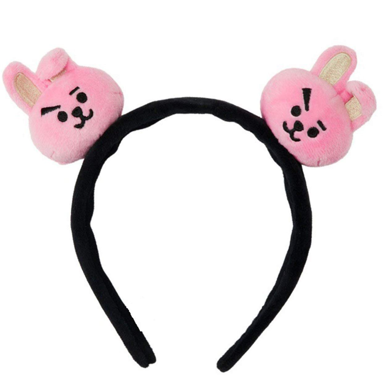 BT21 Portable Mini Elastic Hair Band Cartoon Headband Bangtan Boys Fans Hair Band Plush Hair Accessories Unisex - brown Formulaone