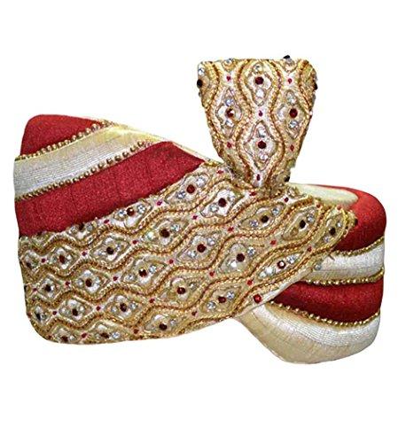 INMONARCH Mens Wedding Turban pagari safa hat for Groom TU2249 22H-inch Multi-color by INMONARCH