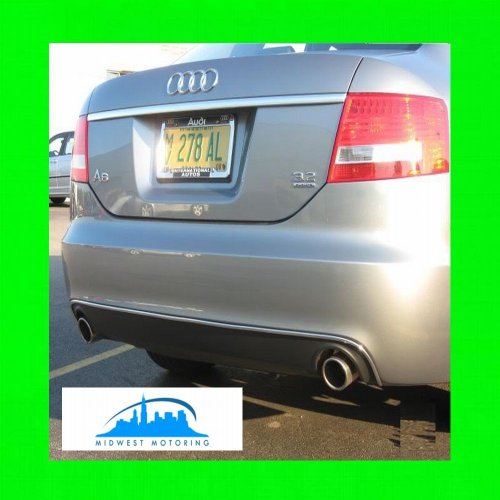 2005-2008 AUDI A6 CHROME REAR VALANCE TRIM MOLDINGS 2006 2007 05 06 07 08 (Chrome Valance Grill)