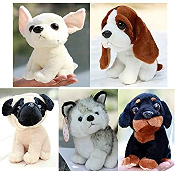 kawaii baby toy plush stuffed staff pug dog Huskies kids toys dogs Dane brinquedos pelucias toy