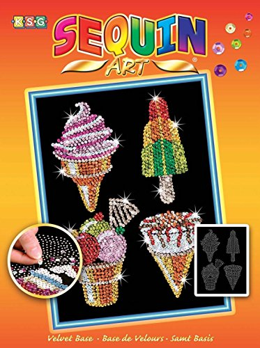 (Sequin Art Orange, Ice Creams, Sparkling Arts and Crafts Picture Kit, Creative Crafts )