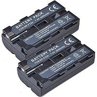 2x Masione NP-F550 NP-F330 NP-F570 F750 F930 F950 Battery for Sony CCD-TR716 TR818 CCD-RV100 CCD-RV200 CCD-SC5 CCD-SC9 CCD-TR1 CCD-TR215 CCD-TR940 CCD-TR917