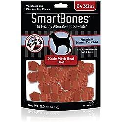 SmartBones Beef Dog Chew, Mini, 24 pieces/pack