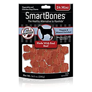 SmartBones Beef Dog Chew, Mini, 24 pieces/pack (066410)