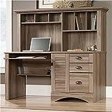 BOWERY HILL Home Office Desk with Hutch in Salt Oak
