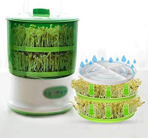 HYISHION Double Couche Bean Sprout Machine entièrement Automatique Choux ménagers automatiques de Haricots for de Nombreux Haricots Accueil Multifonctions SKYJIE
