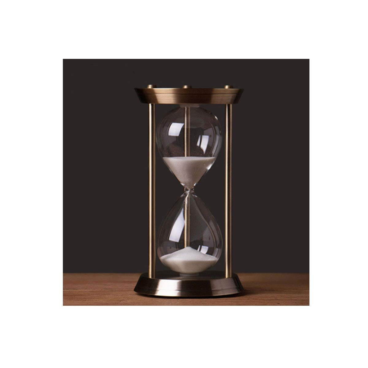 Jinnuotong Hourglass, Simple Atmosphere Decorated Hourglass Style, Made of Iron and Glass Materials, Durable, Comfortable Texture (Large/Medium/Small for You to Choose) Beautiful and Comfortable