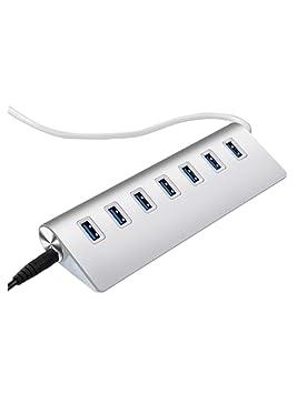 POIUDE Hub USB 3.0 Adaptador,7 Puertos,para Unidades de Disco Duro ...