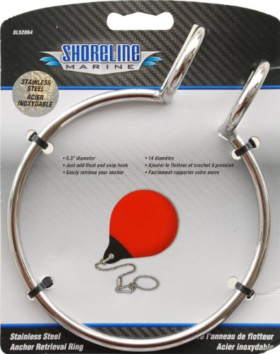 Shoreline Marine Anchor Retrieval Ring (Stainless Steel) (Boat Poly Balls)