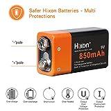 Hixon 9V 850mAh Rechargeable Battery for Smoke