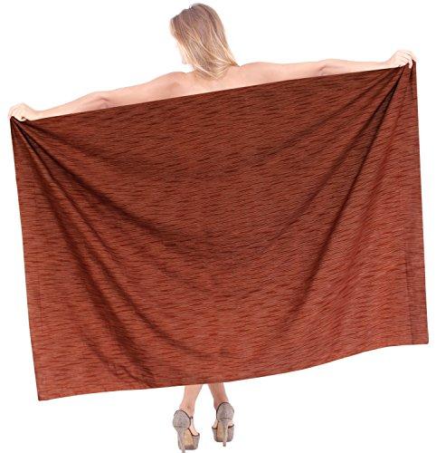 para mujer del abrigo de la falda pareo de ba�o del traje de ba�o del traje de ba�o del bikini sarong vestido de verano encubrir vestido marr�n