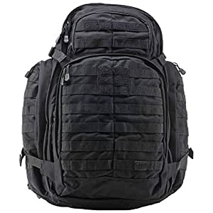 5.11 RUSH72 Tactical Backpack for Military, Bug Out Bag, Molle Pack, Large, Style 58602, Black
