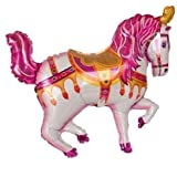 Grabo 35 Inch Pink Circus/ Carousel/ Carnival Horse Shaped Foil Balloon