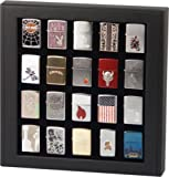 zippo case display - Cupboard Cabinet Display Box Case For 20 Zippo Lighters Rosewood / Black / Maple (Black)