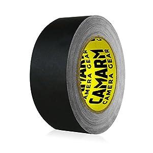 Camarm Gaffer Tape 40 Yards x 2 Inch For Filmmakers (Black Matte)
