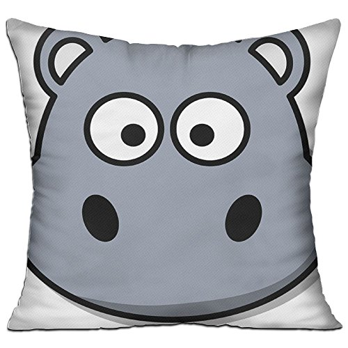 Gray Hippopotamus Wild Cozy Sofa Pillow 18in X 18in (Including Pillow Inside) (Sofa Hippopotamus)