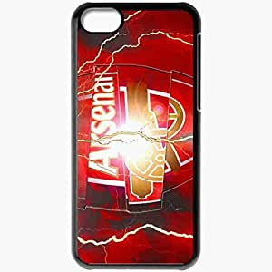 Personalized iPhone 5C Cell phone Case/Cover Skin Arsenal Logo AFC Arsenal Gunners Football Black