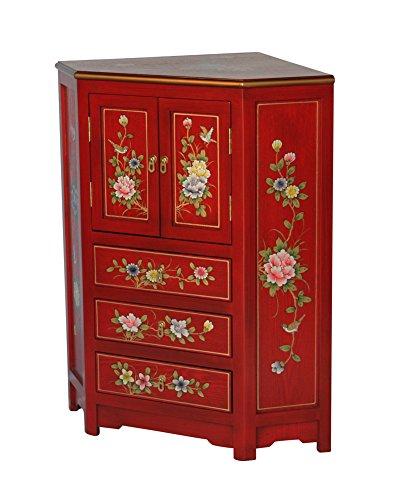 Red Wooden Corner Cabinet Model 3243-R