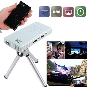 Flylinktech Pico 1080P DLP Proyector de bolsillo 2500mAh Batería ...