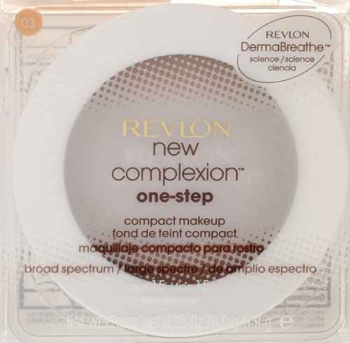 Revlon New Complexion One-Step Compact Makeup SPF 15, Ivory Beige [001] 0.35 oz (One Foundation Step Makeup)