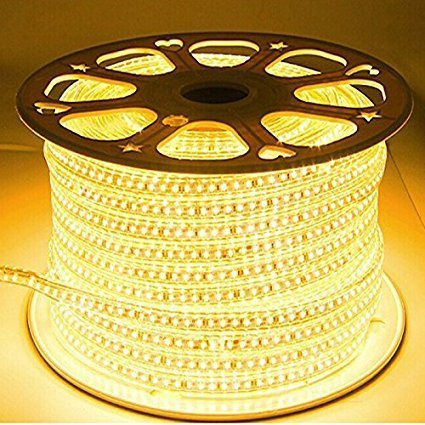 Galaxy Lighting PLastic Water Proof LED Rope Light with Adapter(Warm White, 20 m)