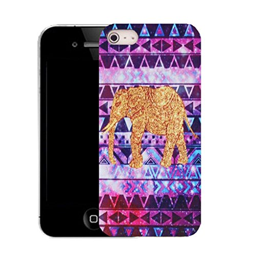 Mobile Case Mate iPhone 5c clip on Silicone Coque couverture case cover Pare-chocs + STYLET - BOHO ELEPHANT pattern (SILICON)