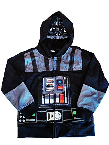 Darth Vader Face Mask (Star Wars Darth Vader Face Mask and Chest Armor Hoodie Jacket (XS))