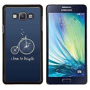 Stuss Case / Funda Carcasa protectora - Antiguo Hipster texto Unic Azul - Samsung Galaxy A7 ( A7000 )