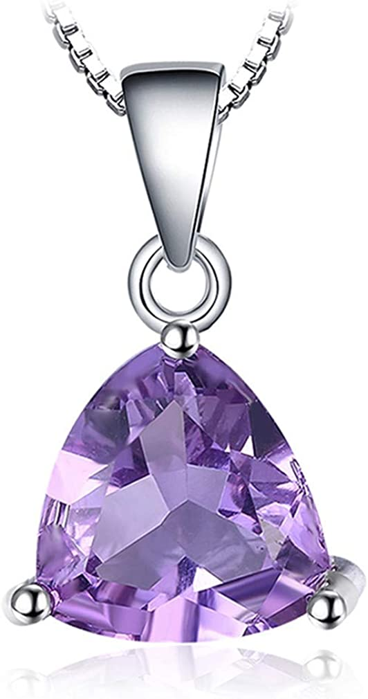 Natural Trillion Amethyst Citrine Garnet Peridot Blue Topaz 925 Sterling Silver Pendants Necklaces Without Chain 154A8JP