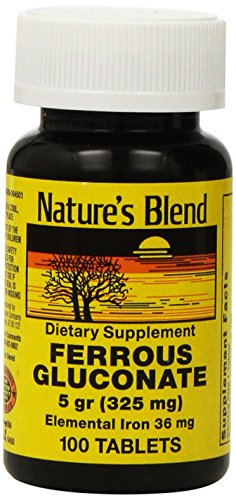 Nature's Blend Ferrous Gluconate Tablets, 100 Count Review
