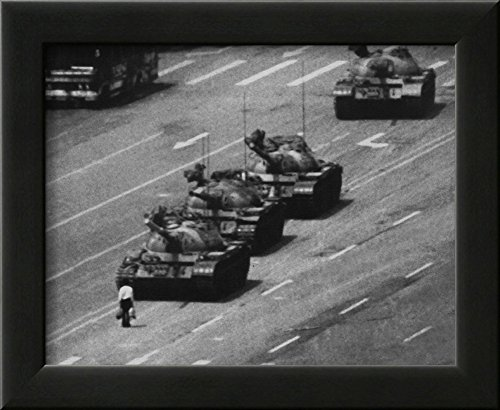 Tiananmen Square Man and Tanks Glossy Photo Photograph Print Framed Photographic Print 10 x 12in Tank Man Tiananmen Square