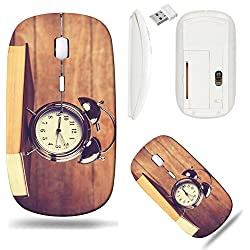 Liili Wireless Mouse White Base Travel 2.4G Wireless Mice with USB Receiver, Click with 1000 DPI for notebook, pc, laptop, computer, mac book ID: 24284143 clock and book Photo in old color image style