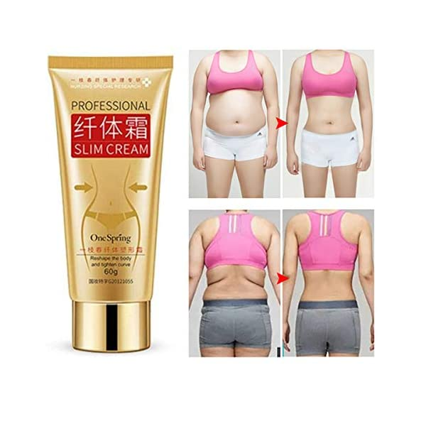 Slim Cream,Professional Weight Loss Slimming Creams,Cellulite Removal Cream,Natural Skin Tightening Cream,Leg Body Waist Belly Fat Burner for Women and Men 51BxxI8MXgL