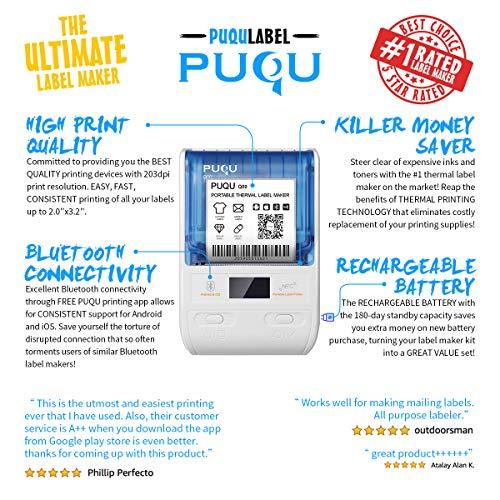 PUQU Label Maker | Portable Bluetooth Thermal Label Printer