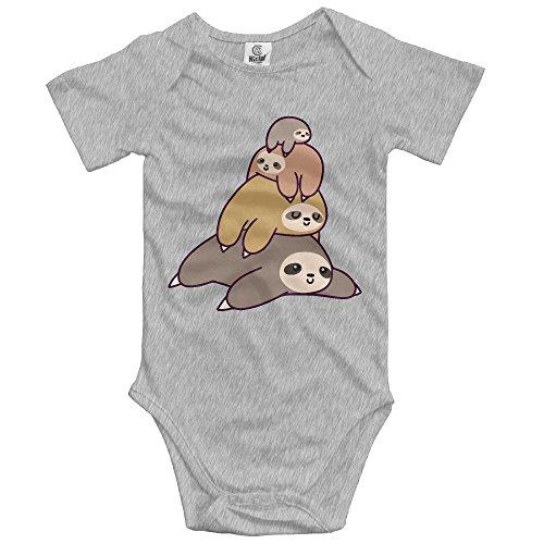 YUE-SKD-SK Newborn Baby Boys Clothing Sloth Stack Baby