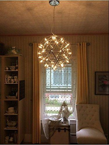 Kiven® Sparking Stars Lights Modern Style Globle Shade Stainless Steel Design Led Pendant Light Hanging Lamp Fixture Suitable for Restaurant,bedroom (Warm white 3000K) by Kiven (Image #6)