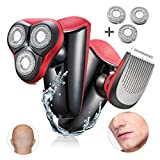 Electric Shaver Razor For Men Easy Head Shaver WMARK Beard Trimmers Hair Clippers USB Rechargeable Razor 3 blade Shavers Washable Shaving Machine