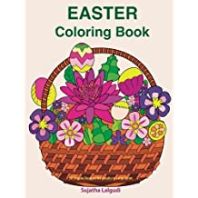 Easter Coloring book: 30 Simple Designs for adults in Large Print: Easy coloring for seniors and beginners, Large pictures of Easter Eggs and flowers ... coloring books for Adults) (Volume 16)