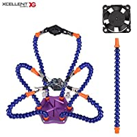 Xcellent Global Six Arm Soldering Station with USB Fan Third Hand Helping Hands Soldering Tool, PC037