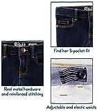 Osh Kosh Girls' Toddler Skinny Denim, Marine Blue, 2T