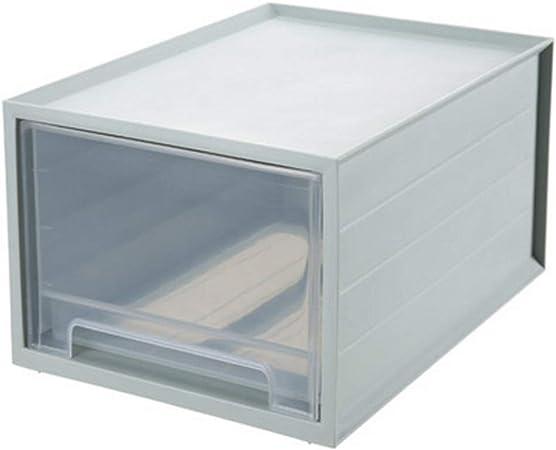 Archivadores Caja de Almacenamiento Transparente de una Capa Caja de Almacenamiento de cajones Acabado Caja de Ropa de plástico Caja de Ropa Caja de Almacenamiento: Amazon.es: Hogar