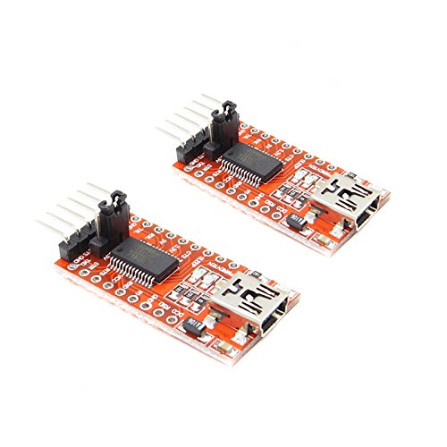 BALITENSEN 2pcs of FT232RL FTDI USB to TTL Serial Converter Adapter Module Mini USB 3.3V 5.5V Board for Arduino PRO Mini