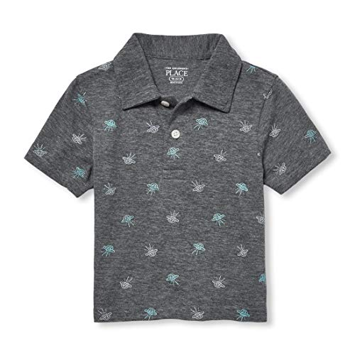 The Children's Place Baby Boys Polos, Heather/T Eclipse, ()