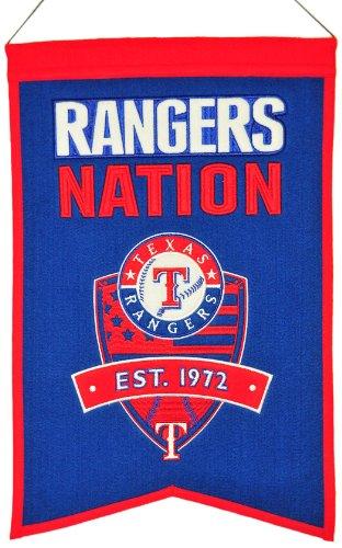 Texas Rangers Wool - MLB Texas Rangers Nations Banner