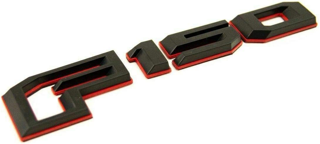 Three Pcs F-150 LARIAT Fender Adhesive Emblem Passenger /& Driver Sides Compatible with F-150 Red